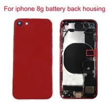 JPFix для iPhone 8G 8 Plus задняя крышка батарейного отсека чехол для задней части телефона средняя замена в сборе с гибким кабелем держатель батареи