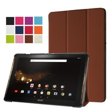 For Acer Iconia Tab 10 A3-A40 Leather Cases Tri-fold Stand Leather Case Cover for Acer Iconia Tab 10 A3-A40 – 10.0 inch