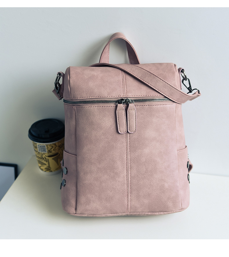 HTB11QC6a2fsK1RjSszgq6yXzpXaY Simple Style Backpack Women Leather Backpacks For Teenage Girls School Bags Fashion Vintage Solid Black Shoulder Bag Youth XA568