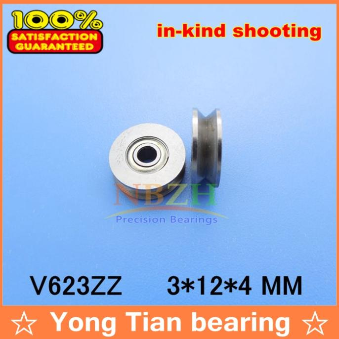 5PCS V623ZZ Skateboard Bearing Miniature Bearing V-groove bearings 3*12*4mm