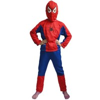 Children Spiderman Costume Kids Halloween Christmas Party Superman Cosplay Costumes Boy Spider Man Tight Muscle Jumpsuit