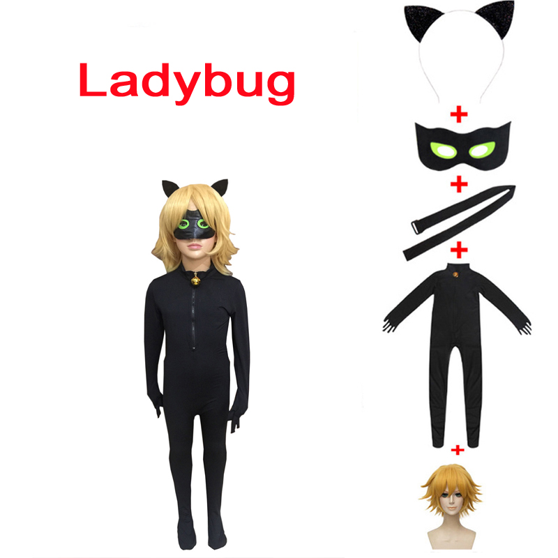 Marienkäfer Cosplay katze noir kostüm kinder erwachsene cosplay dame bug halloween kostüme für mädchen Schwarz marienkäfer kinder Overalls