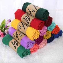 20 Color Classic Autumn Scarves for Women and Wraps Fashion Warm Colorful Linen Female Lady Winter Shawl Foulard