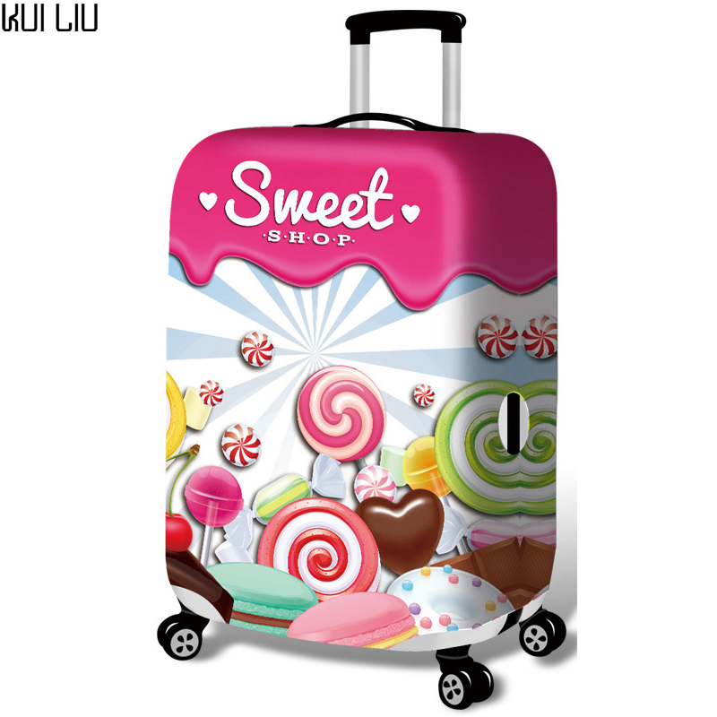 Elastic Luggage Protective Cover For 19-32 Inch Trolley Suitcase Protect Dust Bag Case Child Cartoon Travel Accessories