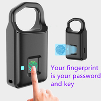 Hot Fingerprint Lock Smart Lock Home Luggage Dormitory Locker Warehouse Door Waterproof Super Long Standby Electronic Padlock