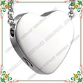 CMJ8384 envío Personalizado venta caliente de grabado urna conmemorativa de recuerdo Urna de acero inoxidable Colgante de collar con el envío libre