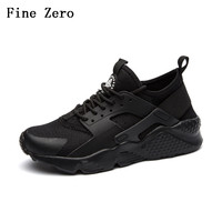 Fine Zero Man Spring Summer Air Mesh Big Size 45 46 Lace Up Casual Shoes Male