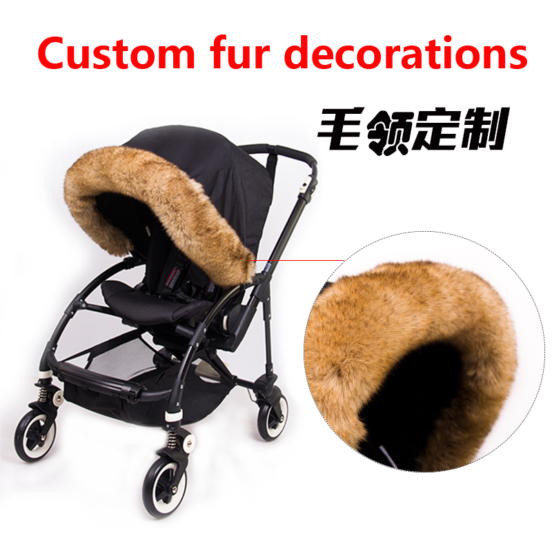 Sun Shade Fur Accessories Baby Stroller Sunshade Canopy Cover Fur Accessories Buggy Pushchair Pram Car Sunshade Cover Fur Access
