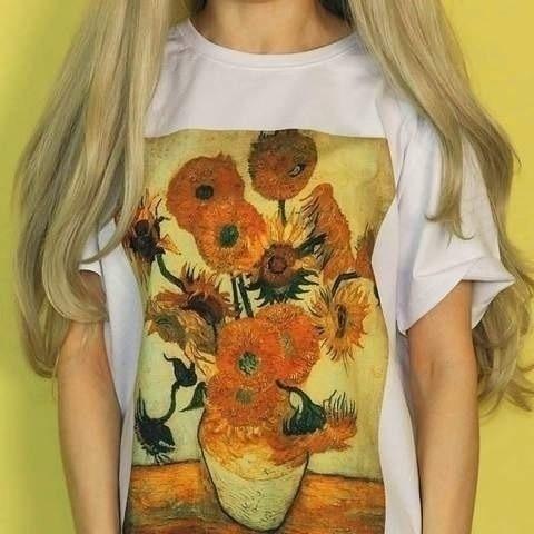 87ae9ea11f0cd Detail Feedback Questions about Fashionshow JF Van Gogh Sunflower ...