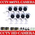 800TVL Камеры Безопасности 8 шт./лот Открытый Всепогодный День/Ночь ИК Система Видеонаблюдения 8 ШТ. Камеры ВИДЕОНАБЛЮДЕНИЯ Комплект