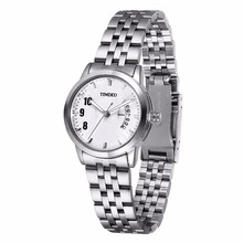 Time100 mujeres del reloj impermeable único correa de acero inoxidable auto fecha ladies business casual relojes de pulsera montre femme