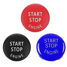 Кнопка запуска двигателя автомобиля Замените крышку выключатель аксессуары ключ декор для BMW X1 X5 E70 X6 E71 Z4 E89 3 5 серии E90 E91 E60