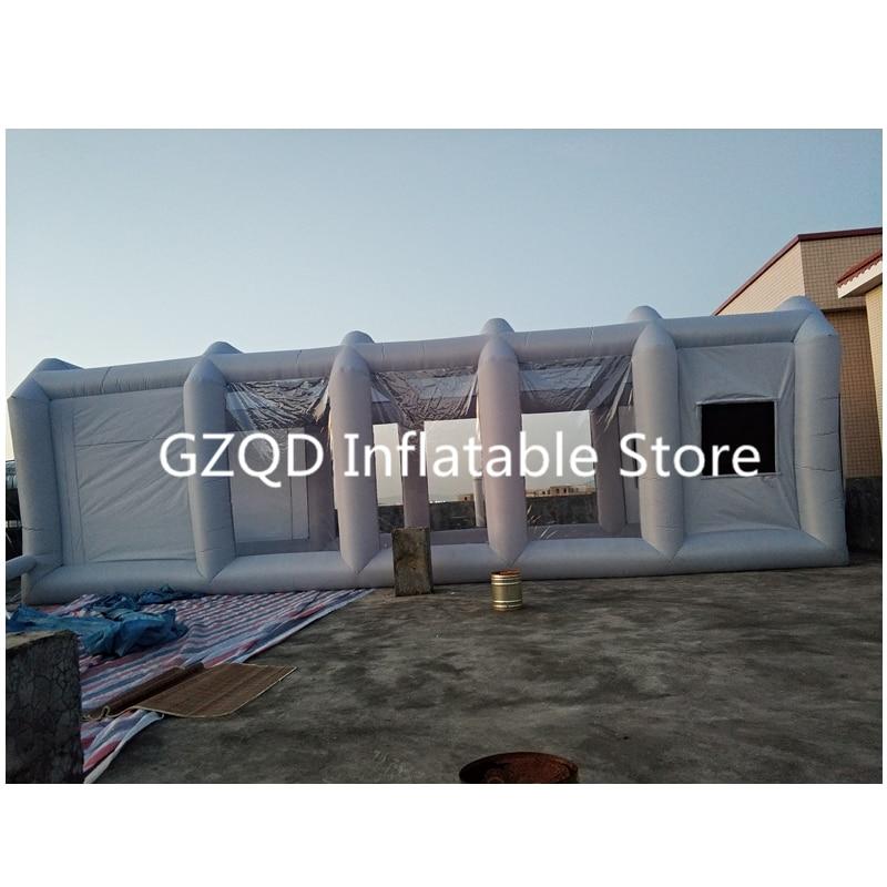 39x16x13Ft Portable gonflable cabine de pulvérisation gonflable cabine de peinture gonflable voiture cabine de peinture à vendre