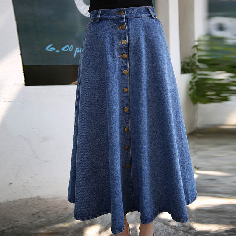 Online Get Cheap Long Denim Skirts Women -Aliexpress.com | Alibaba ...