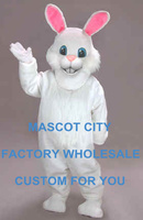 Easter Buuny White Rabbit Mascot Costume Adult Size Cartoon Character Easter Holiday Theme Mascotte Mascota Suit Kit Fit SW1116
