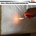 1Pcs 50cm x100cm Car Body Sound Shield Heat Insulation Deadener Deadening Material Pad Mat Aluminum Foil Self-Adhesive