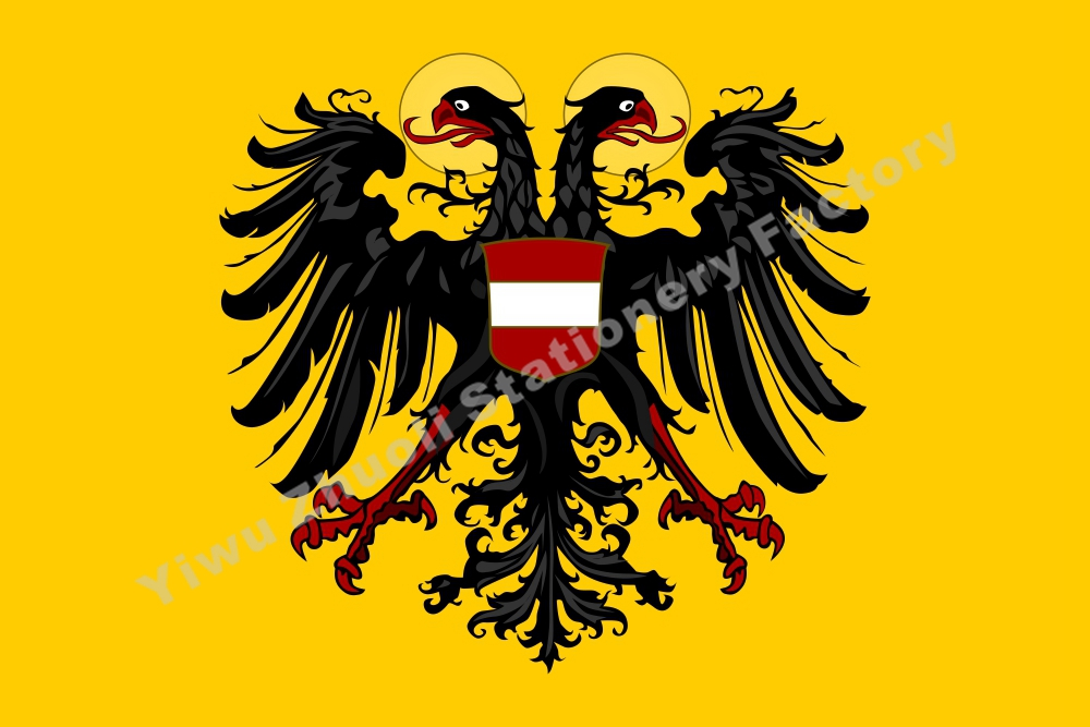 Germany Banner Holy Roman Emperor with Arms 1437 Flag 150X90cm (3x5FT) 120g 100D High Quality Banner Free Shipping image