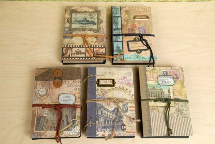 Old Book Cover Craft : New vintage memory craft notebook hand cover kraft book