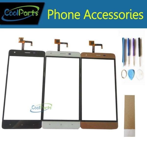 1 Teil/los Hohe Qualität 5,5 ''Für Oukitel K6000 Pro Touchscreen Digitizer Touch Panel Objektiv Mit Werkzeug & Band schwarz Weiß Gold Farbe