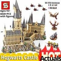 SY 1192 Harry Movie Potter Compatible legoinglys 71043 Hogwarts Castle Magic School set Building Blocks Bricks toys for children