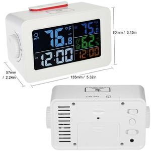 Image 5 - カラフルな液晶テーブルデジタルスマートアラーム時計温度温度計湿度湿度計デスクトップ充電器覚ますスヌーズ