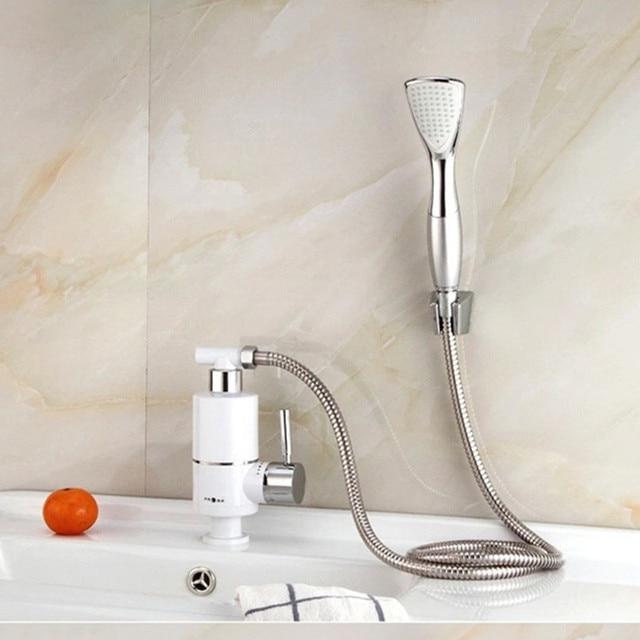 Kran Kitchen Sink: Kran Prysznic Elektryczny Podgrzewacz Wody Tankless Ciągłe