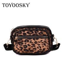 hot deal buy toyoosky fashion designer women bag brand small women leopard print handbags flap leopard shoulder bags clutch sac messenger bag