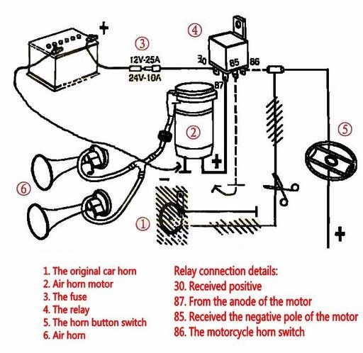 Motorcycle Horn 24v Wiring Diagram Wiring Diagram