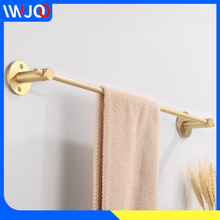 Towel Bar Brass Single Decorative Towel Rack Hanging Holder Wall Mounted Gold Towel Holder Rack Bathroom Accessories Hardware free shipping becola single towel bar gold plated towel rack solid brass towel holder bathroom accessories br 5509