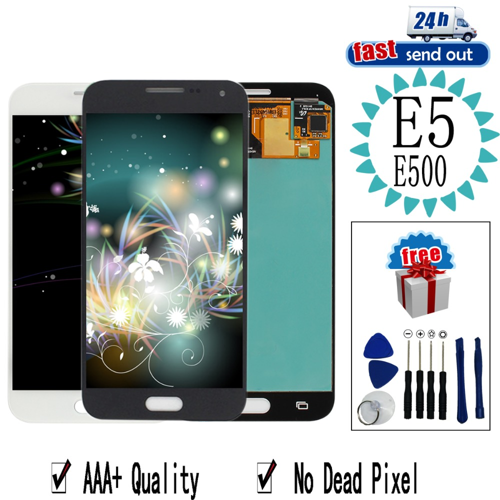 AMOLED <font><b>LCD</b></font> Für SAMSUNG GALAXY E5 <font><b>E500</b></font> <font><b>LCD</b></font> Display E500M E500F E500H Touchscreen Getestet Digitizer Montage image