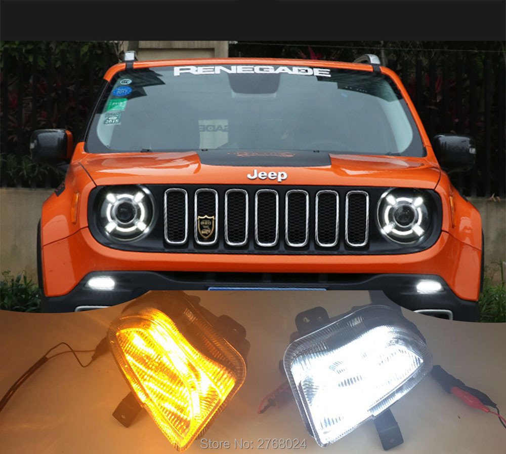 Led Lights Jeep Renegade: 2x Car LED Daytime Running Light DRL For Jeep Renegade
