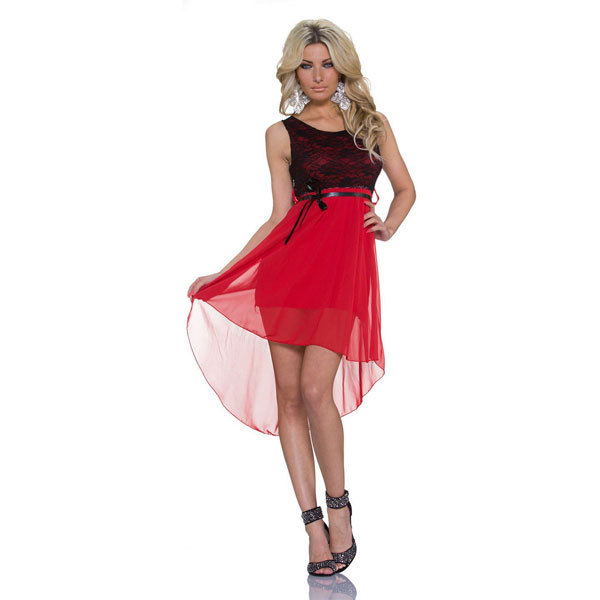 Free Shipping Women Sleeveless Mini Chiffon Summer Fashion Dress