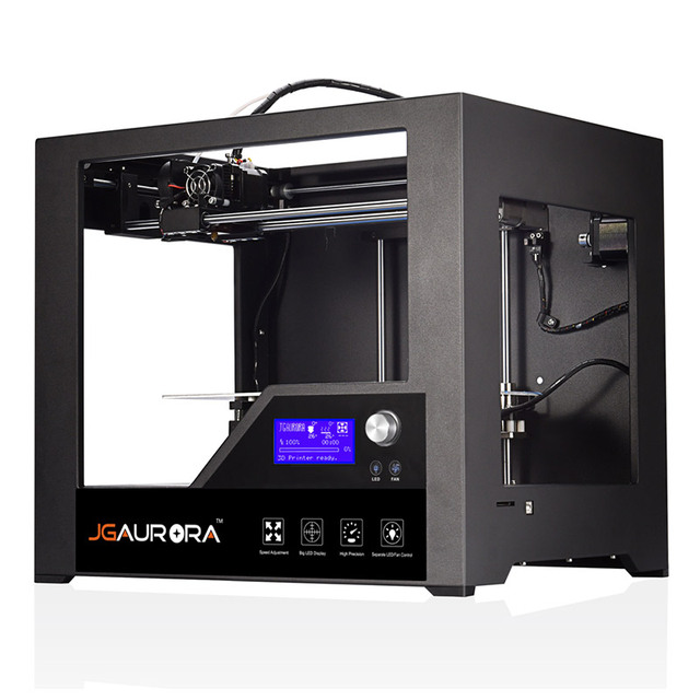 JGAURORA Z-603S 3D Printer Full Metal Frame with Heated Bed High Precision Build Size 280*180*180mm (11*7.1*7.1in)  3d Printing