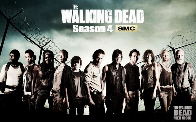 0703 40x60cm The Walking Dead Season 4 SO4 Zombie Blood Hot TV ...