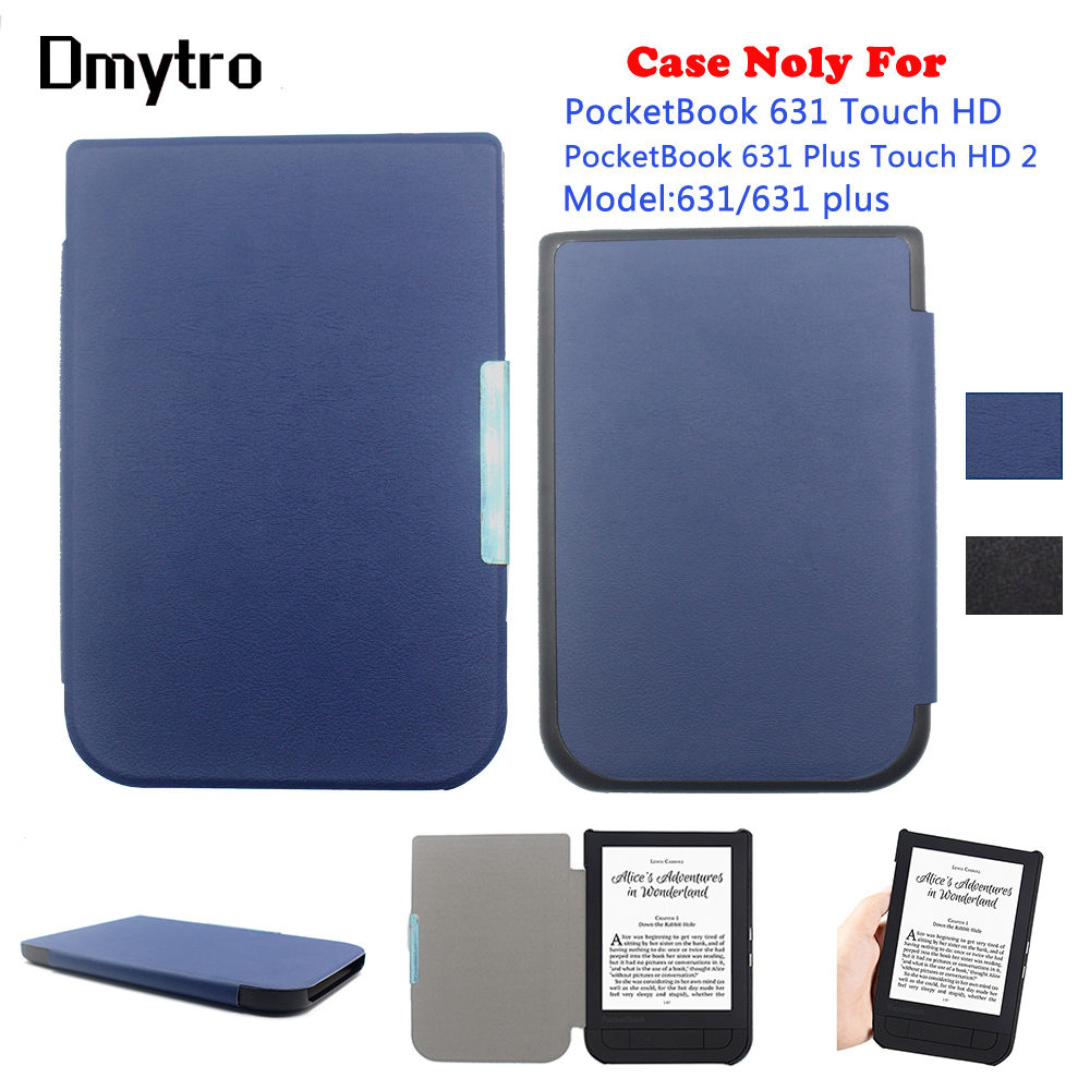 For PocketBook <font><b>631</b></font> Touch HD eReader 6 inch ultra slim leather Cover magnetic clasp flip for PocketBook <font><b>631</b></font> Plus Touch HD <font><b>2</b></font> Case image