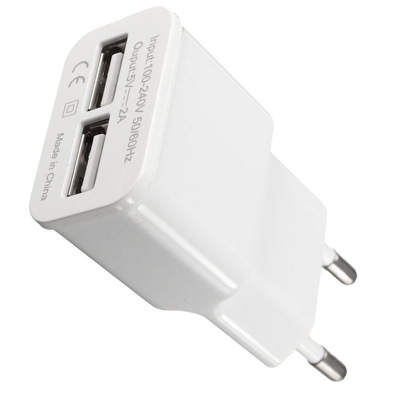 5V 2A Dual 2-Port USB Wall Charger Charging Adapter For IPad Tablets/MP3/MP4/MP5/PSP/Digital Cameras/Power Banks