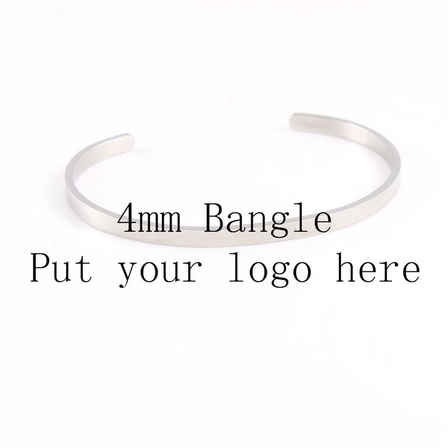 customized 4mm stainless steel name bracelet customize letters quote