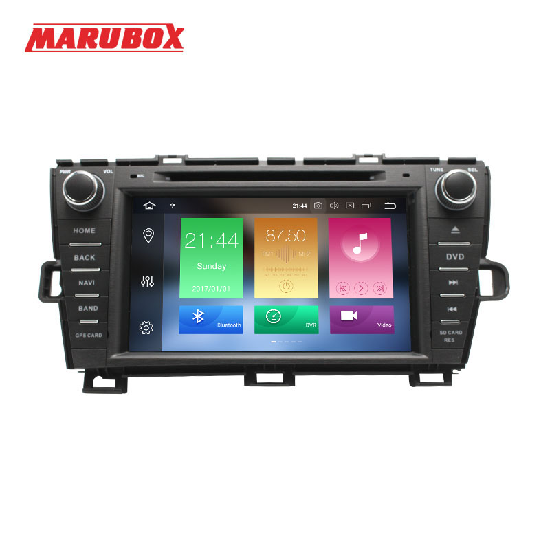 MARUBOX Double Din 4GB RAM Android 9 For Toyota Prius 2009 2015 GPS Navi DVD Stereo