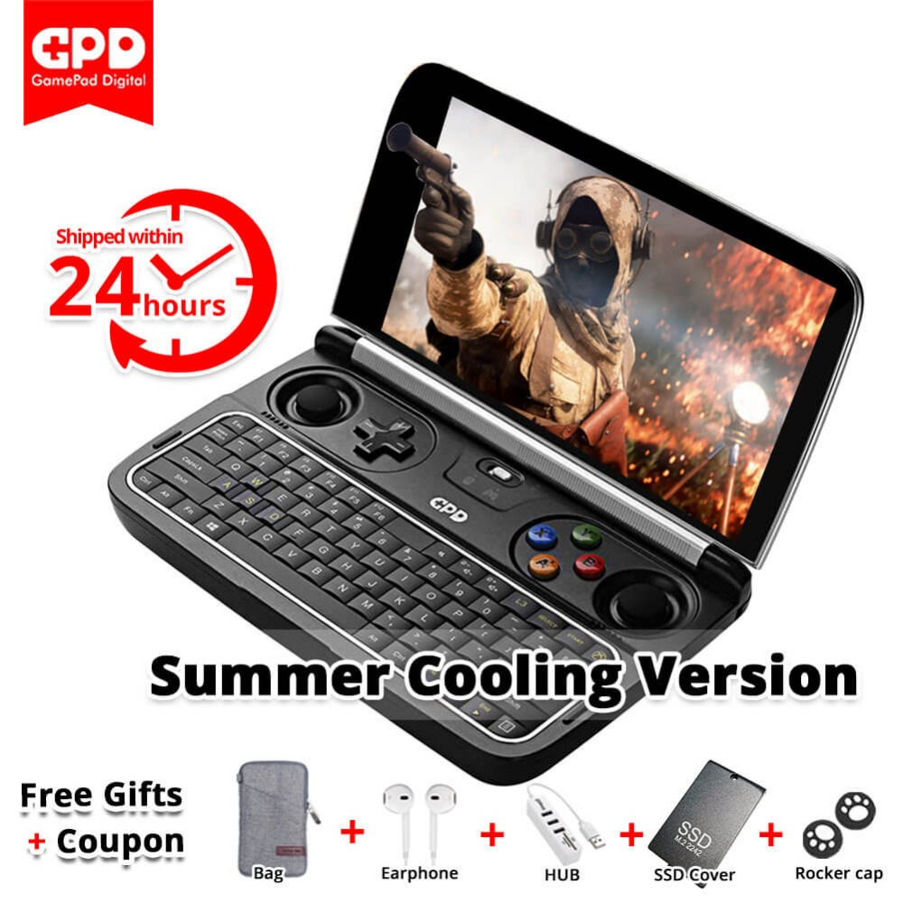 New GPD Win 2 WIN2 Intel Core m3-7Y30 Quad core 6″ GamePad Tablet Windows 10 8GB RAM 128GB ROM Pocket Mini PC Computer Laptop