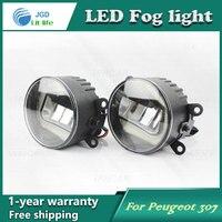 Super White LED Daytime Running Lights case For Peugeot 206 2009 2013 Drl Light Bar Parking Car Fog Lights 12V DC Head Lamp