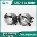 Super White LED Luzes Diurnas Para Peugeot 206 2009-2013 Barra de Luz Drl Estacionamento Luzes de Nevoeiro Carro 12 V DC Head Lamp