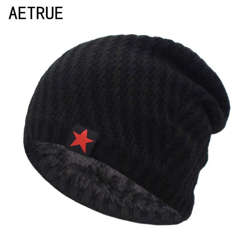 Skullies Beanies Knitted Hat Men Winter Hats For Men Bonnet Gorras Stripe Beanie Mask Soft Male Balaclava Winter Beanie Hat Cap