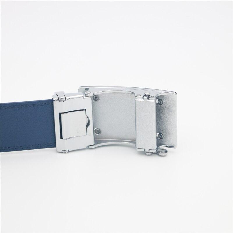 Image 2 - WESTERN AUSPICIOUS Genuine Leather Belt Men Blue Strap Automatic Male Belts Super Cinturon HombreMens Belts   -