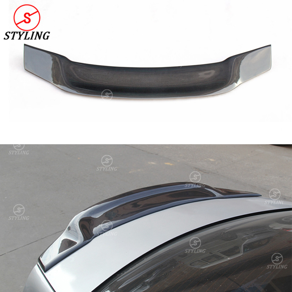 For Mercedes W204 Carbon Spoiler R Style Coupe C Class W204 Carbon Fiber rear spoiler Rear trunk wing 2-doors styling 2008 -2014 цена