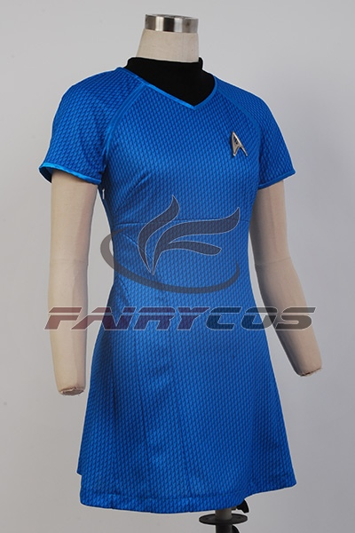 Cosplay Costume Star Trek Into Darkness Uniform Marcus Blue Dress Cosplay Costume