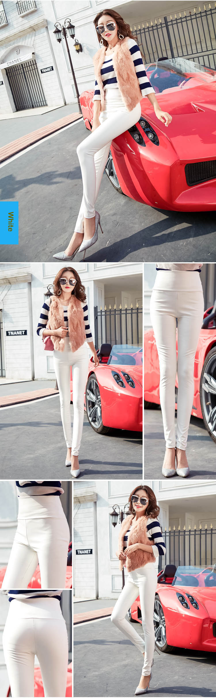 Autumn Winter Women Thin Velvet PU Leather Pants Female Sexy Elastic Stretch Faux Leather Skinny Pencil Pant Women Tight Trouser 37