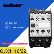 CJX1-16/22 3TB42 AC contactor 2NO 2NC 24V/36V/48V/110V/127V/220V/380V 16A 50HZ/60HZ Original cjx1 9 ac contactor 380v 50hz coil 9a 3 phase 3 pole 2no 2nc