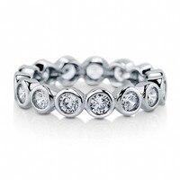 Обручальное кольцо ETERNITY с бриллиантом, имитация платины, Размер 5,6, 7,8, 9,10