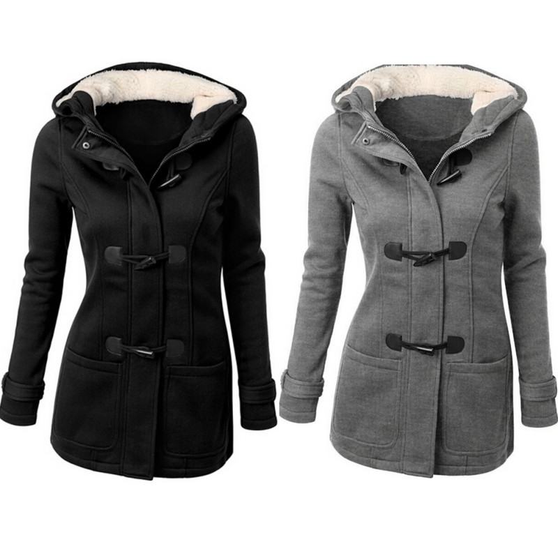 Womens Grey Pea Coat With Hood - Best Hood 2017