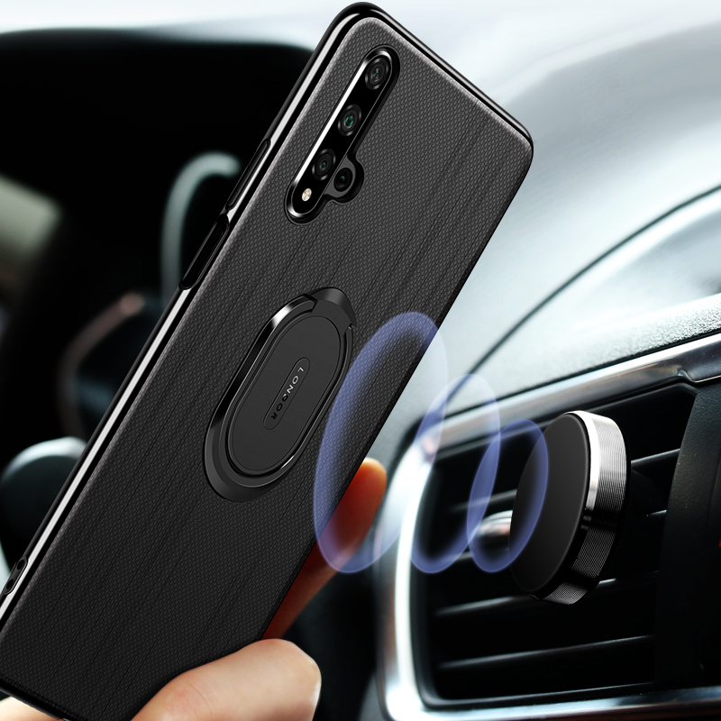 For Huawei Honor 20 Case Cover Luxury Leather Magnetic Ring Stand Holder Phone Cases For Huawei Honor 20 Pro Back Cover Coque